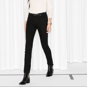 & other stories black high waisted skinny jeans